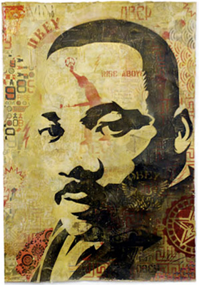 Shepard Fairey's MLK courtesy of theworldsbestever